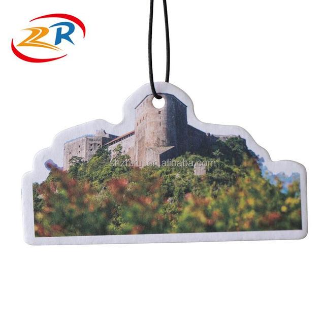 Custom Paper Fresh Fragrance Hanging Car Air Freshener
