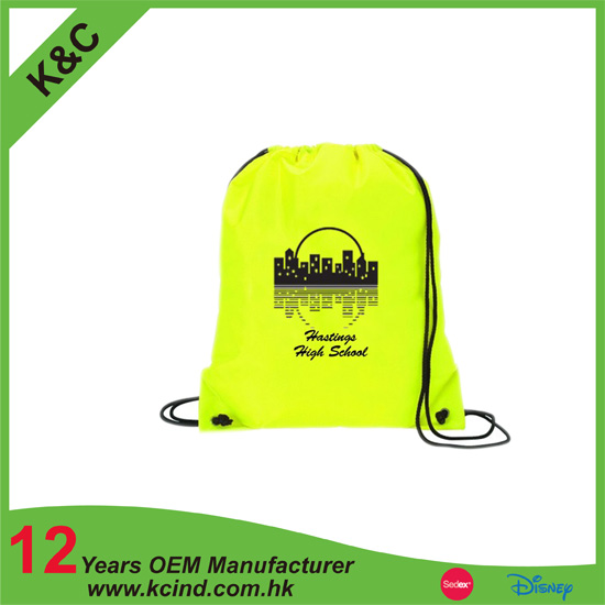 Promotional Fair Trade Canvas drawstring backpack bag