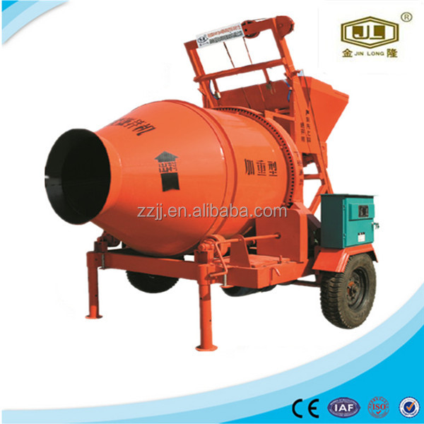 Portable concrete mixing machine beton mixer JZC500 concrete nails with washer popolar in China