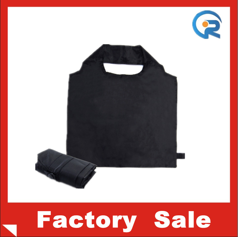 Wholesale promotion customized foldable polyester recycle bag for clothes