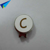 Fashionable blank golf ball marker with hat clip with company logo