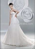 Organza beaded BEW-005 white popular style new design all color available gorgeous