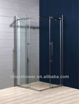 2017 hot sale simple glass shower enclosure