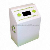 Cardboard Charity Box Paper Collapsible Donation Box