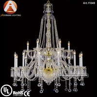 Big Hotel Chandelier Bohemian with Clear Crystal