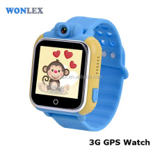 New waterproof popular Wonlex GPS tracker LBS SOS 3G cell Phone calls Wifi Android kids smart watch
