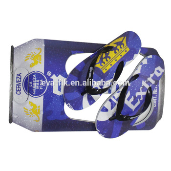 Cool summer Beer Tin Shape EVA sandal Woman beach slipper custom printed flip flops