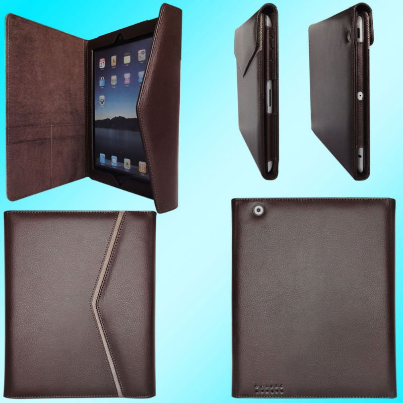 China Wholesale Manufacturer Shockproof PU Leather Flip Cover Smart Luxury Flip Tablet Case With Tab For iPad 2