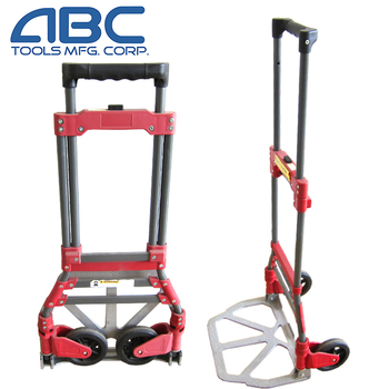 Folding aluminum luggage portable pull trolley cart