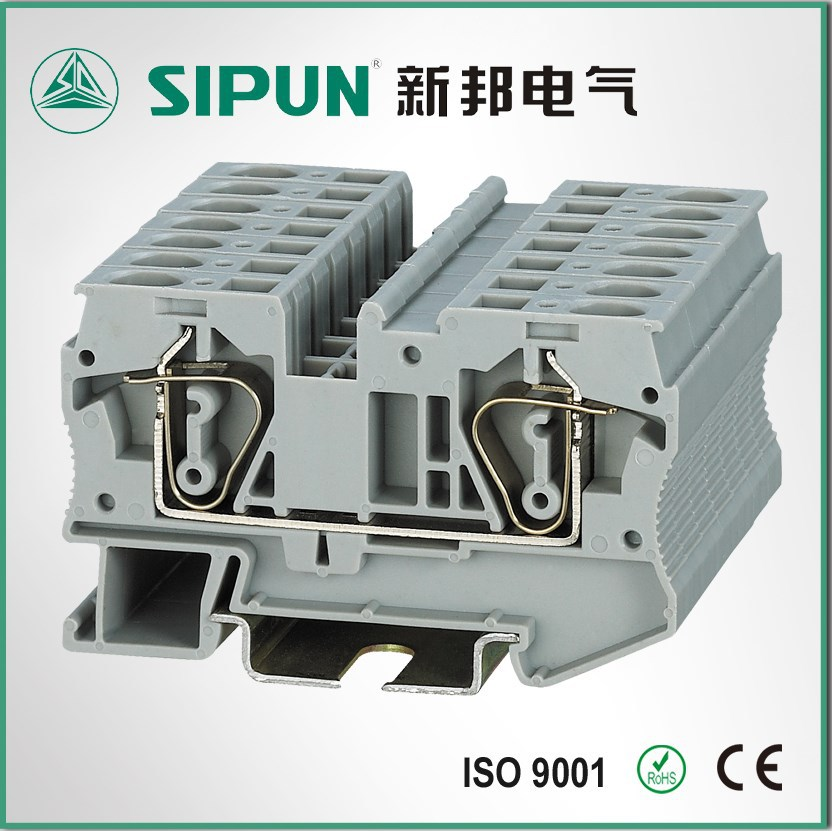 ST3-6 spring cage din rail terminal