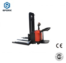 Forklift truck electric straddle stacker 1.0/1.5/2.0 ton 5500 mm pallet stacker trucks