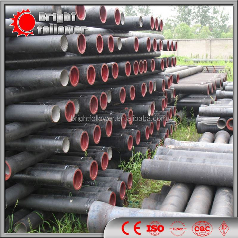 ISO 2531 drinking water supply T type joint ductile iron pipe prices