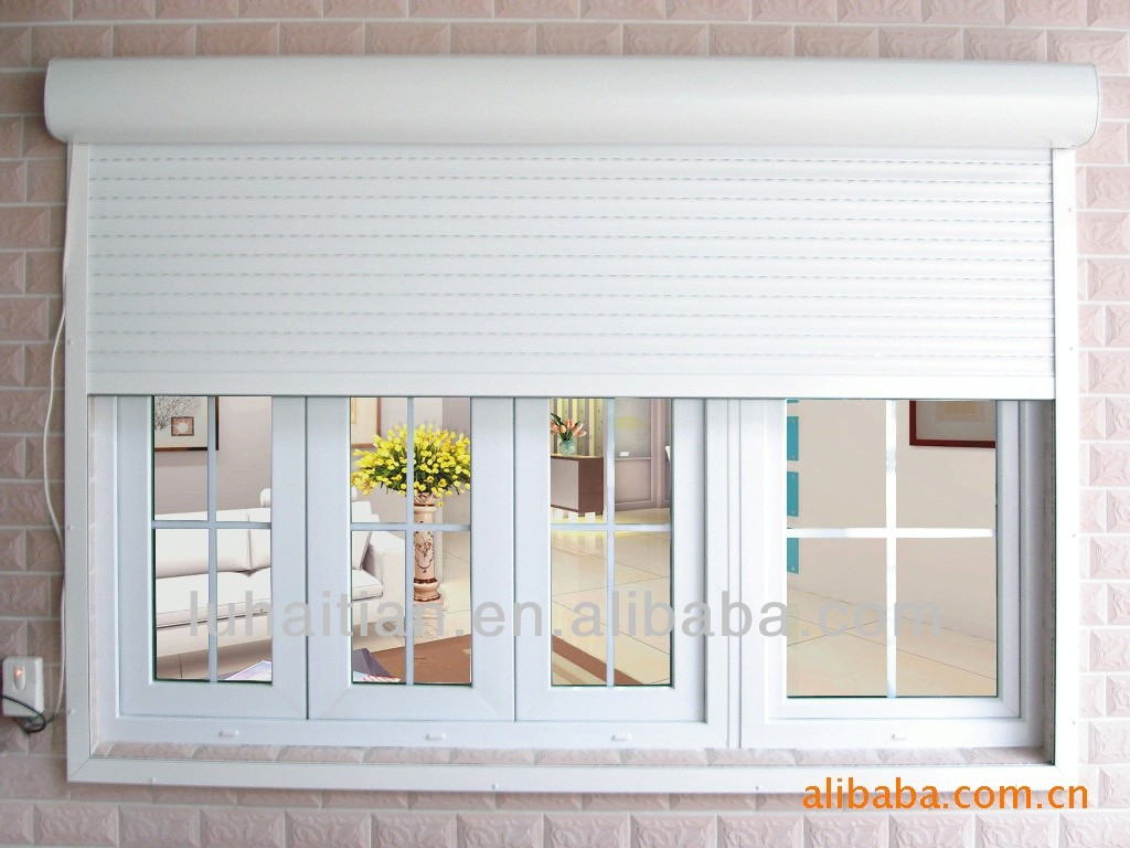 Security residential aluminum roller shutters buy for Window shutters