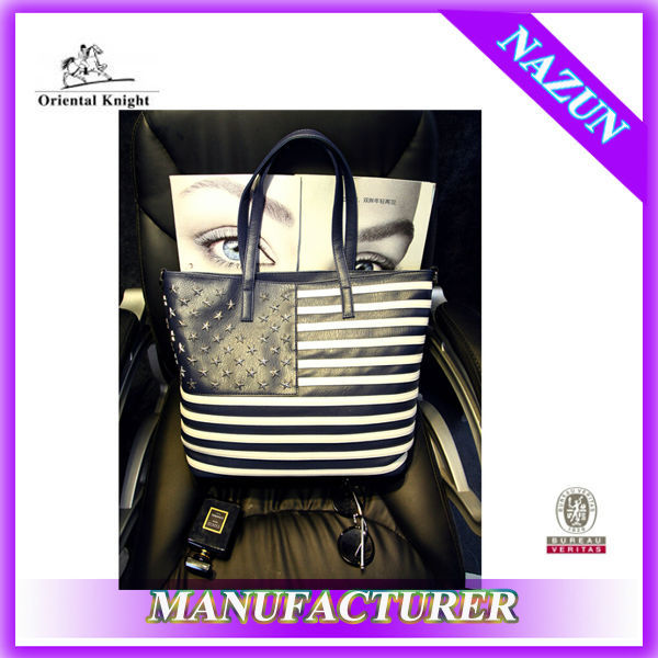 wholesale alibaba cheap leather USA flag handbag