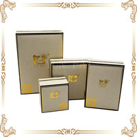 new design leather set box with big logo for jewelry box