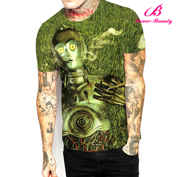 Latest Design High Quality Fashion Print Couple T-shirt