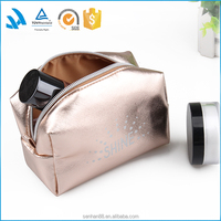 Top quality soft clutch pu leather makeup bags, travel cosmetics accessories