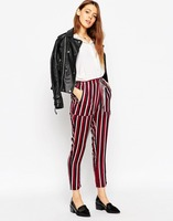ladies pants ladies pantaloon with stripe