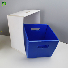 Green 2018 cheap industrial use <strong>pp</strong> corrugated hard plastic folding box