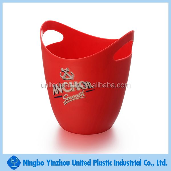 Plastic single wall ice bucket