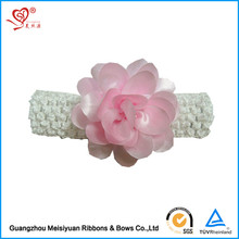 Handmade elastic satin flower headband for baby