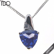 Custom design tanzanite color mood stone necklace