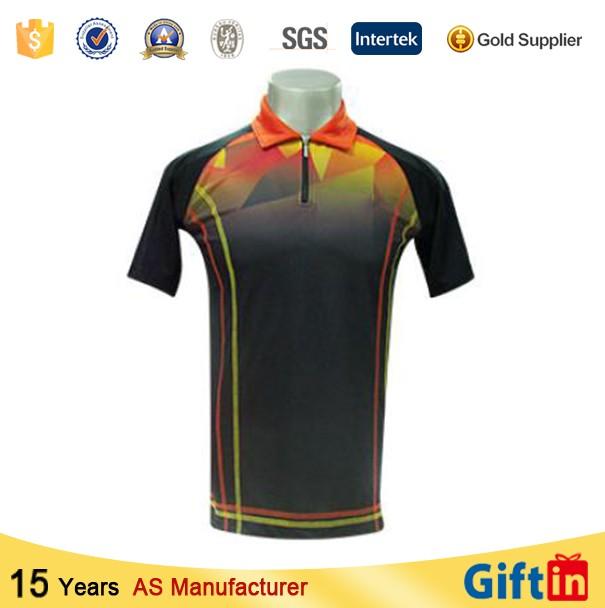 Cheap factory custom logo 100 polyester sublimation polo for Custom polyester polo shirts