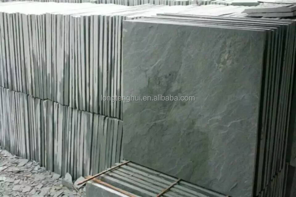 Green slate stone Natural stone split decorative stone tiles wall decoration