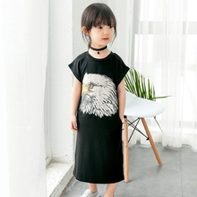 New fashion wholesale Black summer dress Dresses for girls
