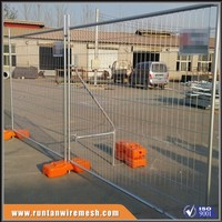 AS4687-2007 factory rubber base temporary fence