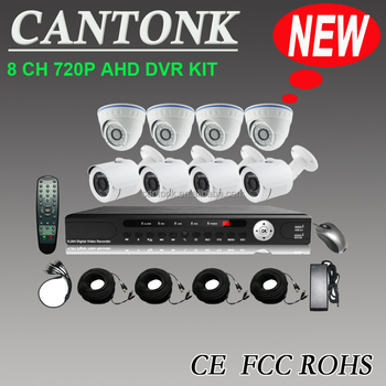 H.264 DVR combo CCTV Camera kit AHD DVR KIT