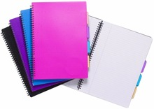 A4 Spiral Bound PVC Cover Notebook with dividers