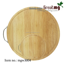 breakfast wooden cutting board with metal handle MGW3004