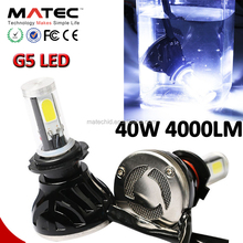 auto parts, car lamp hot Super white LED headlight h1 h4 h13 9005 9006 40w 12V 24V 4000LM h7 car headlight led