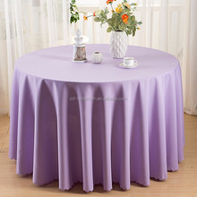 fancy wedding decorative 90 inches round polyester table covers