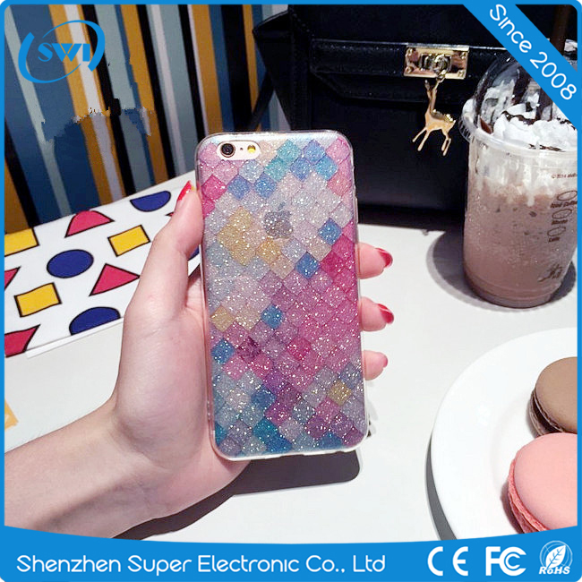 China Wholesale Dual Layer IMD Flash Case For iPhone 7,TPU PC Cover Case For iphone 7 Shiny Cover Case