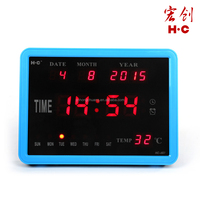 HC007 Electric Desk Digital Wall Calendar with Temperature Display