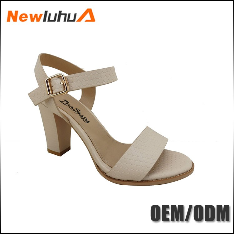 OEM orders acceptable low price simple style girls latest high heel sandals