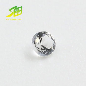 wholesale natural sapphire round shape natural white sapphire jewelry stone