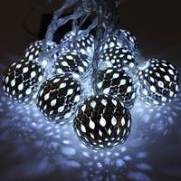 Hot Sale 10 LED 1.2m Fairy String Lantern Lights Battery Operated Ball Star Heart Shape Home Christmas Garden Decoration Lamp