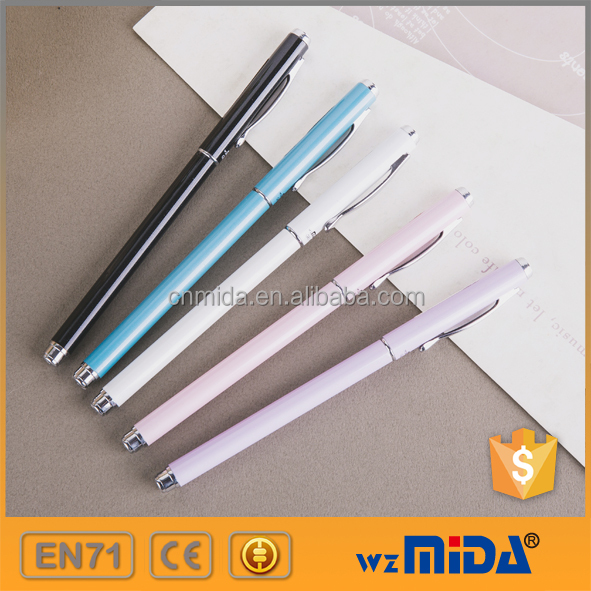 new design metallic gel ink pen OEM logo printing available MD-Z9008