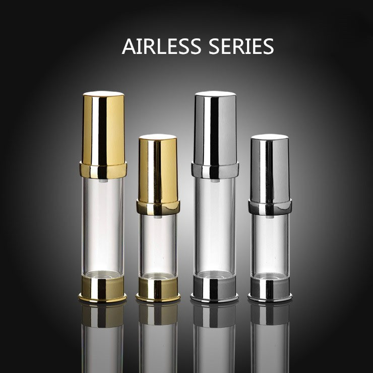 5 ml 10ml Airless Bottle with Silver and Golden Color Caps