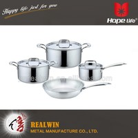 New style top selling cookware popular stainless steel dinner set