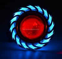 High Brightness RGB coloful 10W led custom headlights for motorcycles with blue angel eye and red devil eye