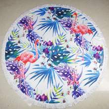 Promotional Personalized best quality round beach towel microfiber