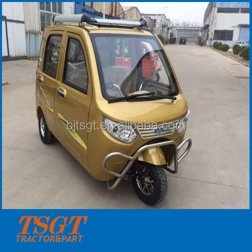 passenger taxi mini model three wheelers electric driving with battery power made in China