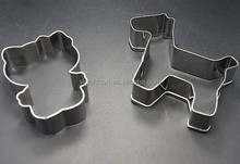 full polish stainless steel hello kitty cookie cutter