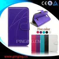 factory price leather case with card holder for samsung galaxy s4 mini