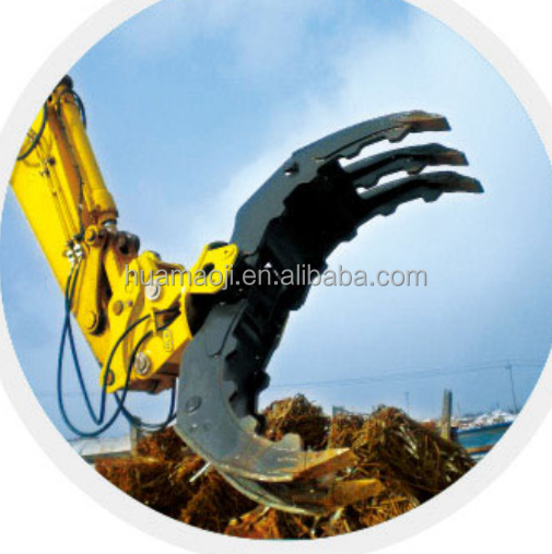 Hydraulic or Mechanical Excavator Grapple Metal / Wood / Log Grab