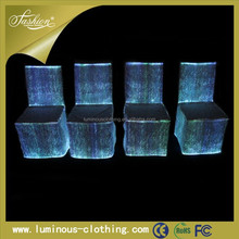 New design led luminous luxury wholesale banquet spandex folding chair covers